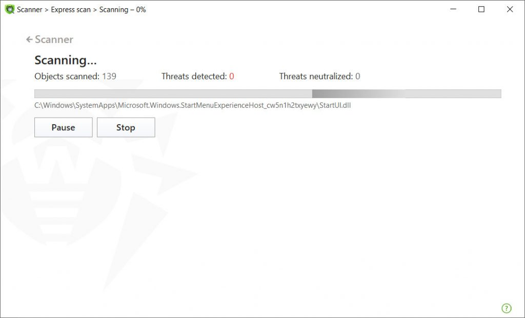 Dr. Web malware scanning