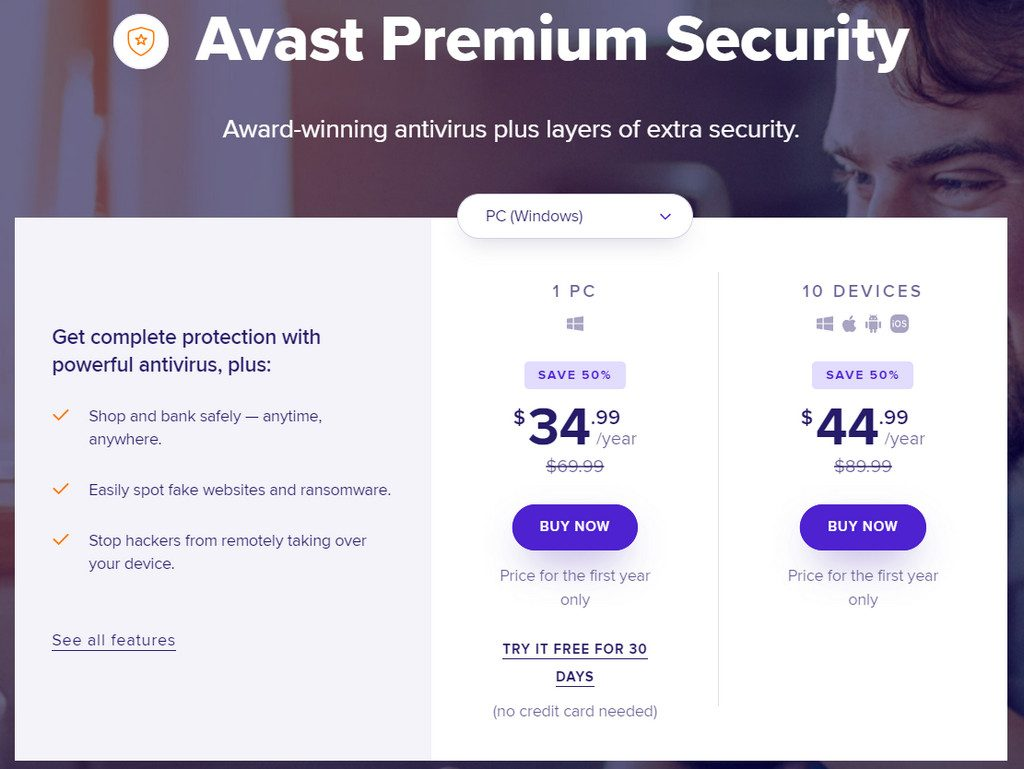 Avast Pricing Plans