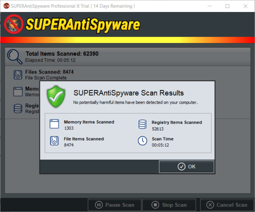 SUPERAntiSpyware Critical Point Scan