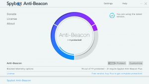 Spybot Search and Destroy Anti Beacon Feature