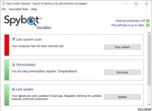 Spybot Search and Destroy Antivirus Main Features