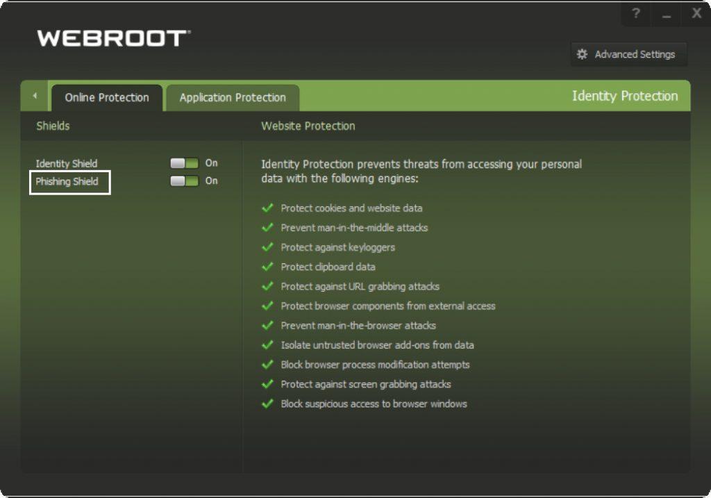 Webroot Phishing Detection