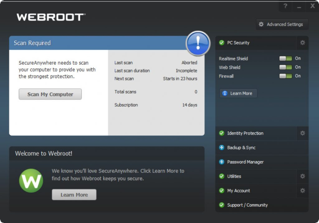 Webroot Secure Anywhere Overview