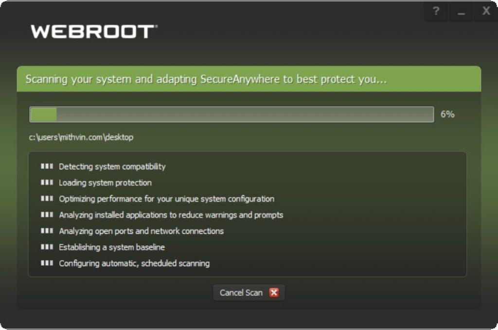 WebRoot Antivirus Installation