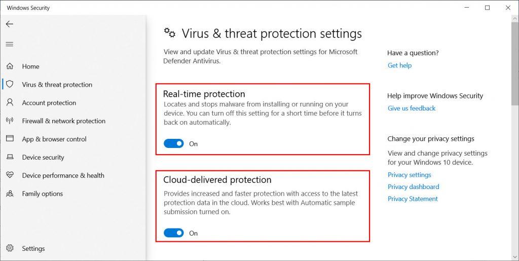 Windows Defender Turn Off Option
